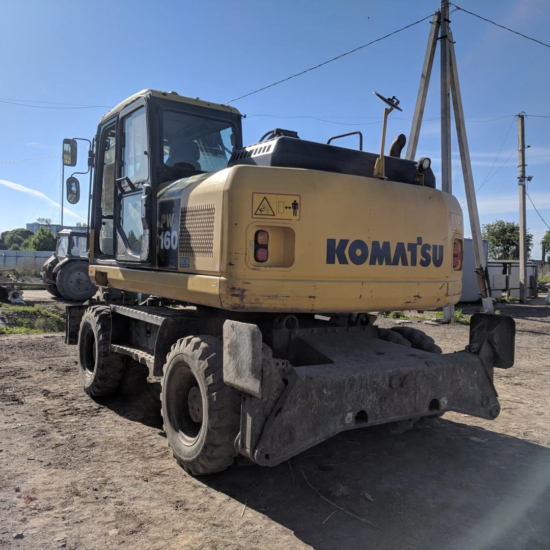 Komatsu PW160 колесный экскаватор, 2012