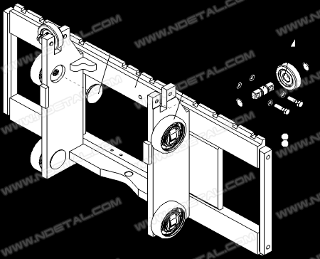 Fork carriage assy