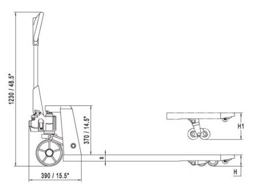 Гидравлическая тележка ручная  noblelift AC20