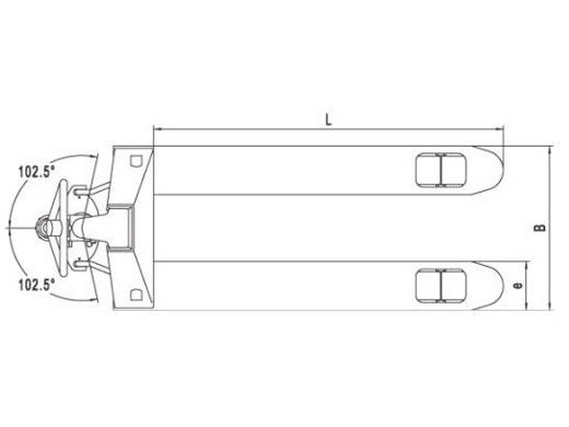 Гидравлическая тележка(Рохля) noblelift AC20