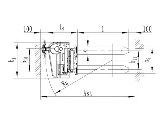 Гидравлическая тележка(Рохля) noblelift ECL 10SC