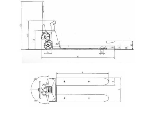 Тележка с весами и принтером noblelift HP ESRP20