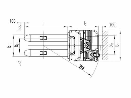 Самоходный штабелер noblelift PS 12L (3600)