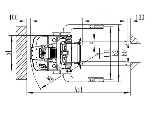 Самоходный штабелер noblelift PS 14RP 2900