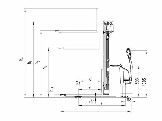 Гидравлическая тележка(Рохля) noblelift PS 16L (4600)