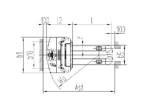 Гидравлическая тележка(Рохля) noblelift PS B15